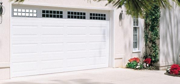 Stockton Garage Door Windows | Traditional Long Panel With Stockton Windows  In White
