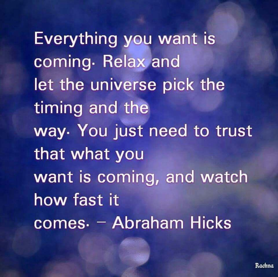 Abraham Hicks Abraham hicks quotes, Law of attraction