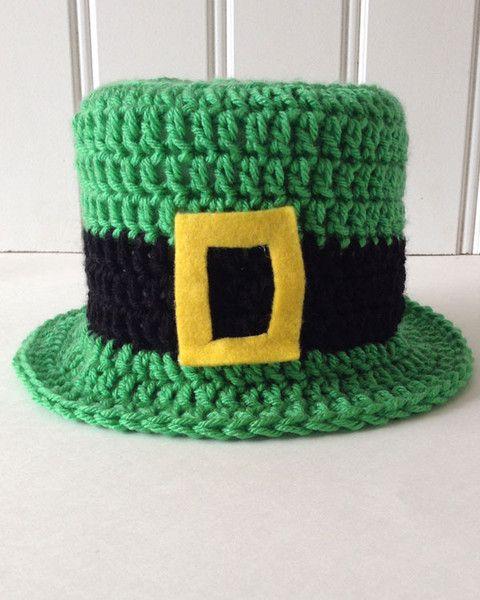 crochet top hat #crochet | St. Patrick\'s Day | Pinterest | Häkeln