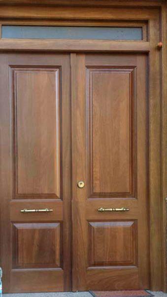 Modelo puerta de entrada exterior ref 03 puertas for Puertas dobles de madera exterior