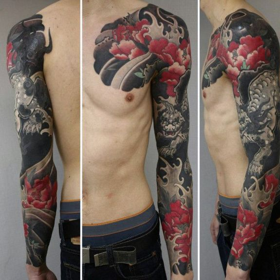 50 Japanese Flower Tattoo Designs For Men Floral Ink Ideas Japanese Sleeve Tattoos Japanese Tattoo Designs Tattoos,White Interior Design Background