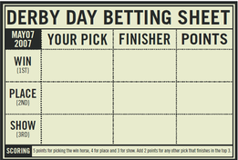 Kentucky derby party games betting aiding and abetting the enemy punishment definition