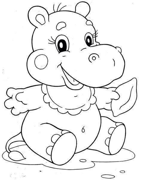 Pin de Gwen Labrecque en BABIES | Pinterest | Hipo, Hipopótamo y Pintar