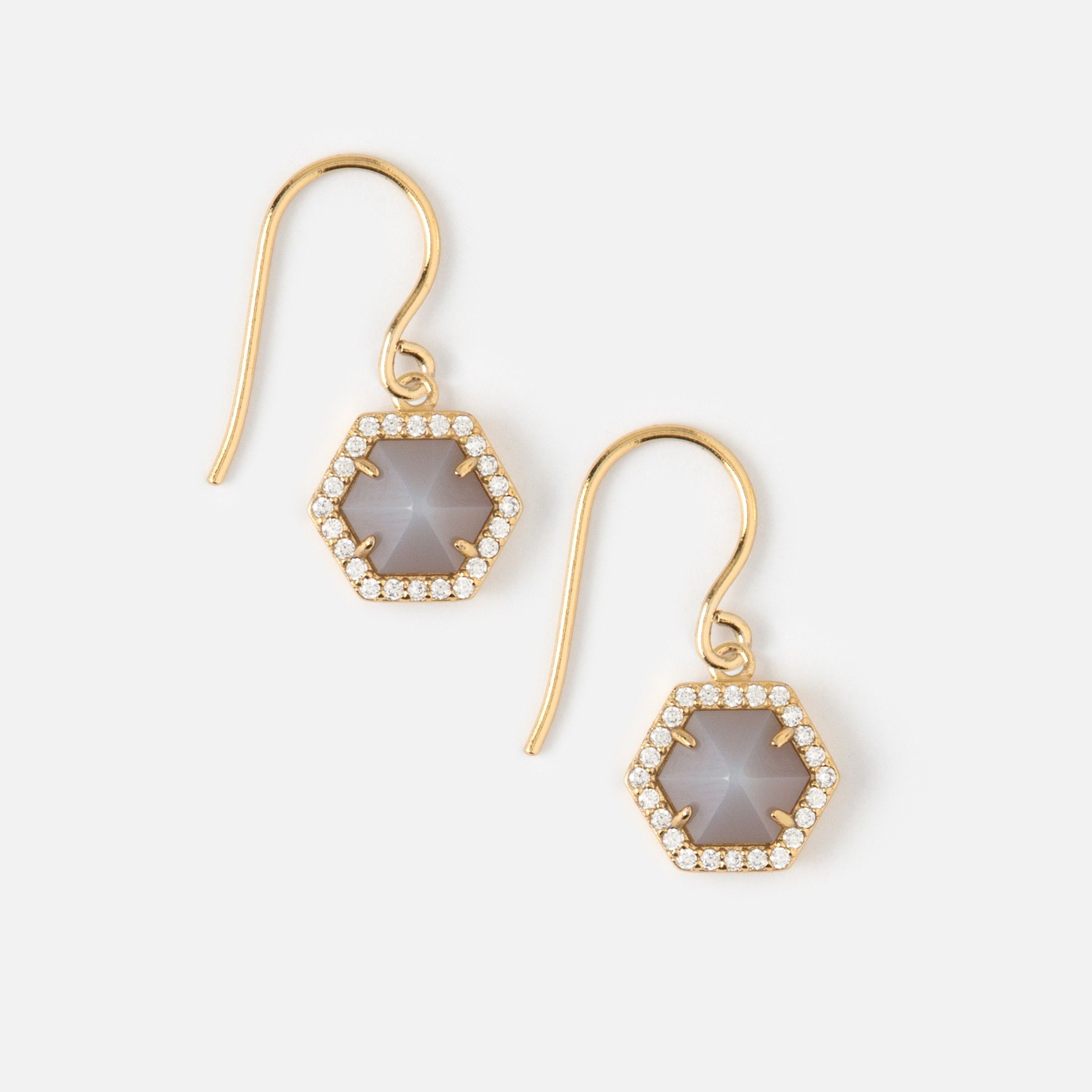 white j product in hexagon gallery double crew jcrew normal lyst earrings jewelry