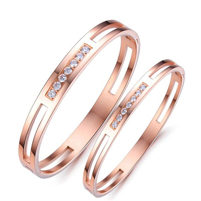 Couple Bracelets Bangles romantic Creative classic rose gold