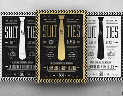 check out new work on my behance portfolio suit and tie flyer