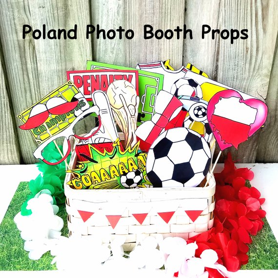 112b38597bc World Cup POLAND soccer photo booth props - the ultimate fan accessory -  2018 FIFA Soccer Champions
