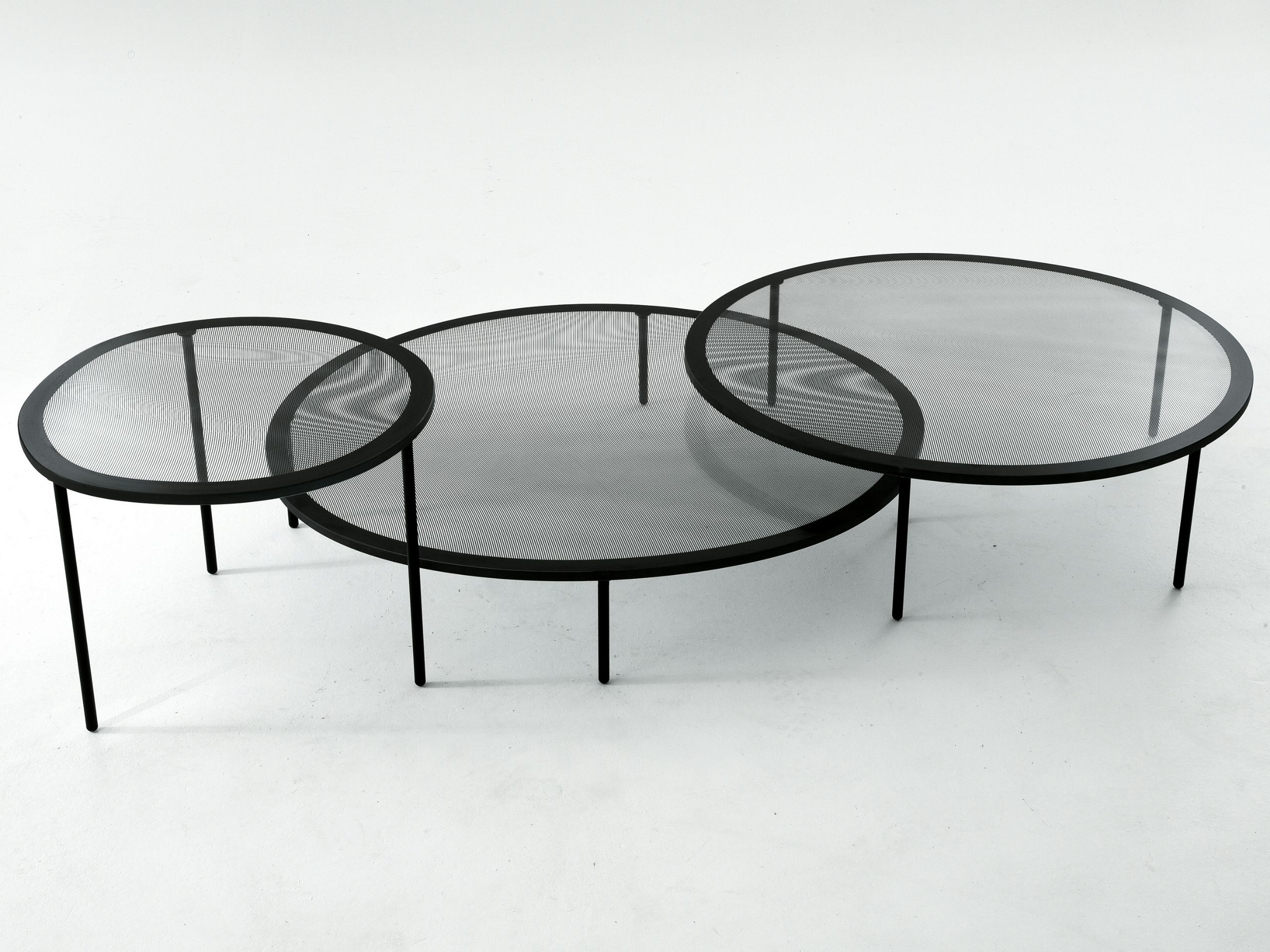 Low round coffee table TAFFY Gallotti Tables