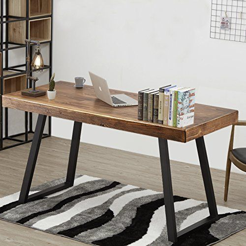 Solid wood computer desks Hardwood Tribesigns 55 Pinterest Tribesigns 55