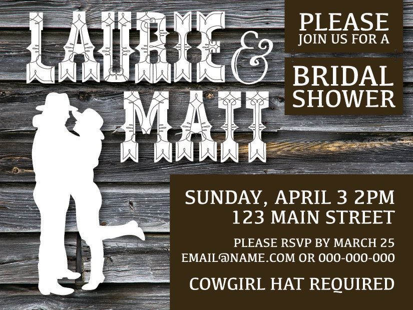 Western Country Bridal Shower Invitation  by PinkUmbrellaInvites, $1.65
