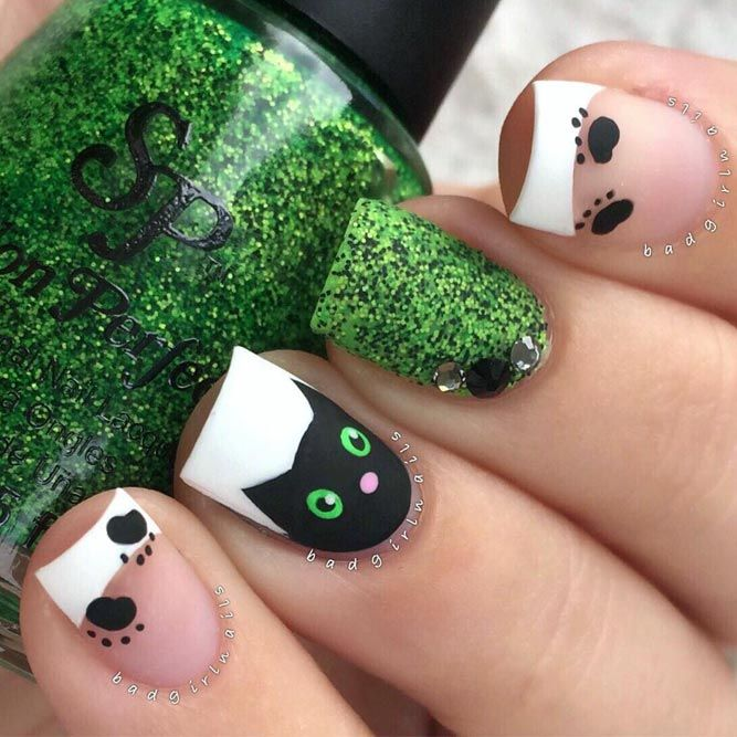 45 Super Stylish Halloween Nails That Will Blow Your Mind | Uñas ...
