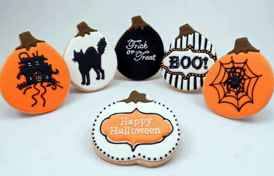 Pin by Elsa Joseph on cookies Pinterest - halloween pumpkin cookies decorating