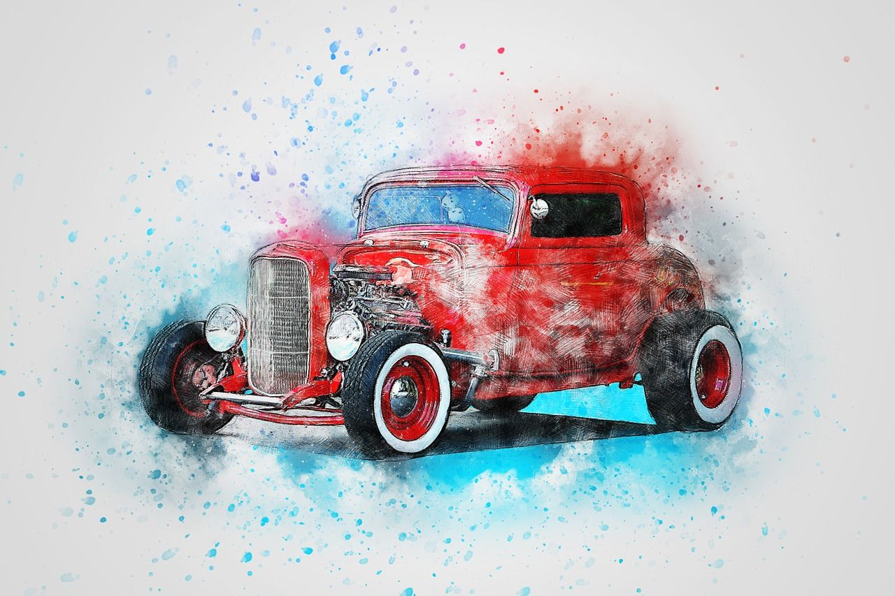 Free Image On Pixabay Car Old Car Art Abstract Car Prints Canvas Print Display Vintage Cars