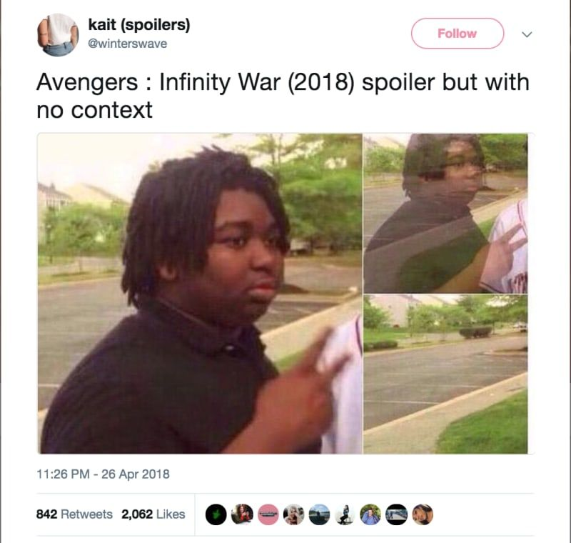 17 Devastating Avengers Infinity War Spoilers Presented With Zero Context Laughing So Hard Memes Humor