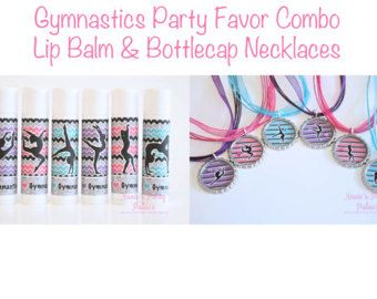 Gymnastics Birthday Party Favors  Gymnastic by NanasPartyPalace