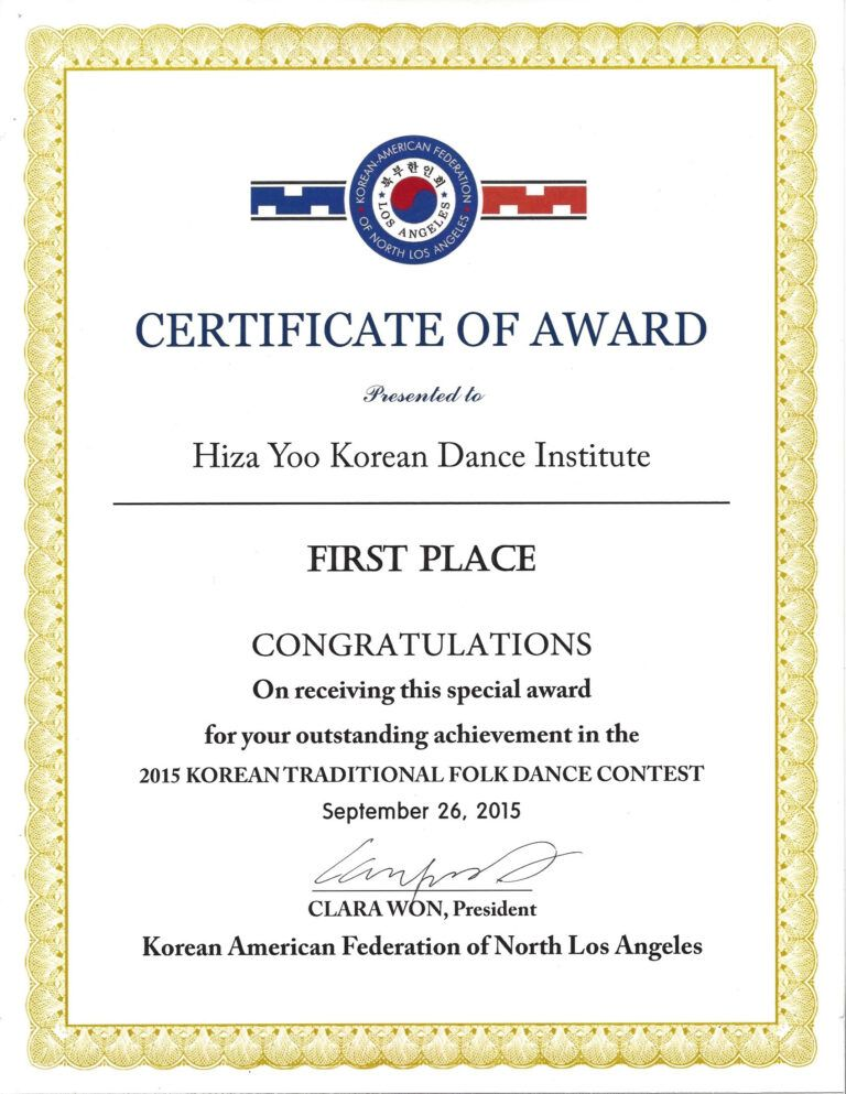 Certificate Templates First Place Certificate Sample