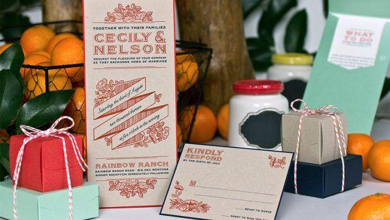 10  Cecily & Nelson Wedding Invitation by ImpressInvitations, $75.00