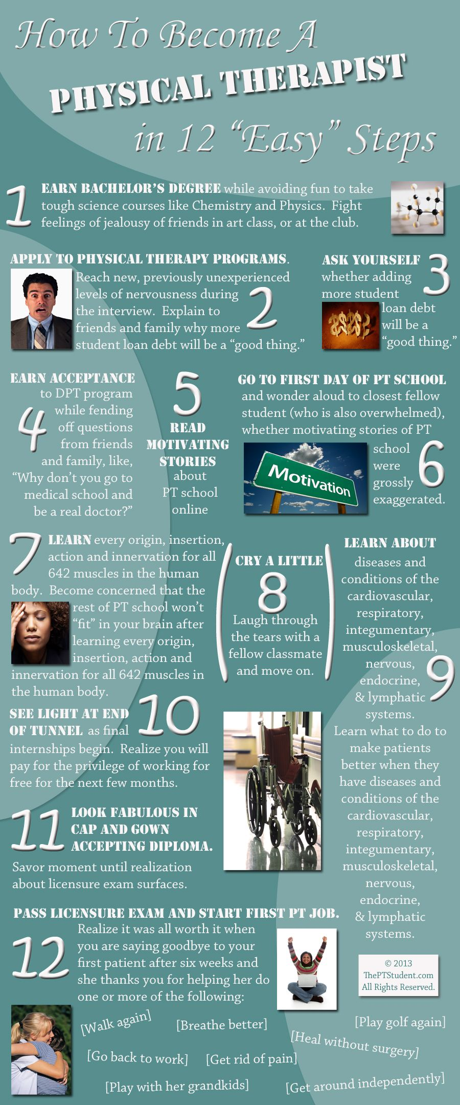 """How To a Physical Therapist in 12 """"Easy"""" Steps"""
