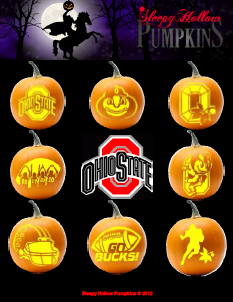 Sleepy Hollow Pumpkins Ohio State Buckeyes Osu Patterns Buckeye