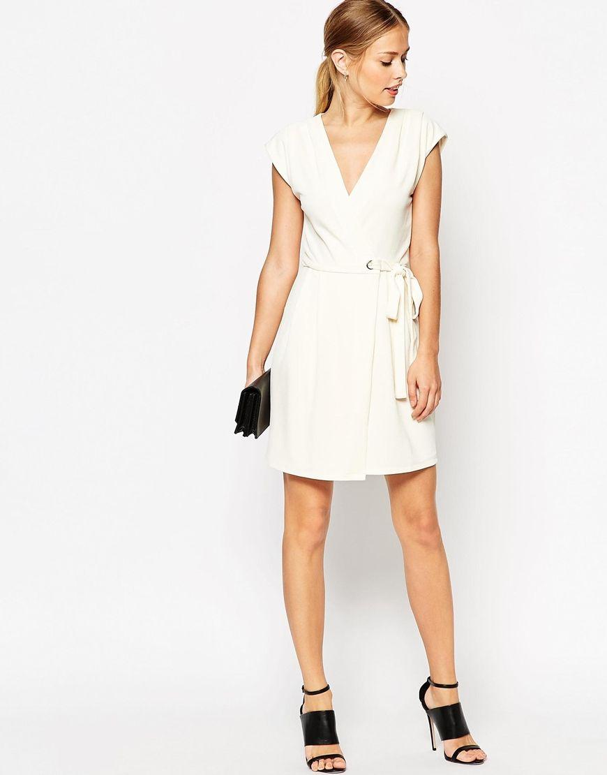 Image 4 ofASOS Wrap Dress with Eyelet Details