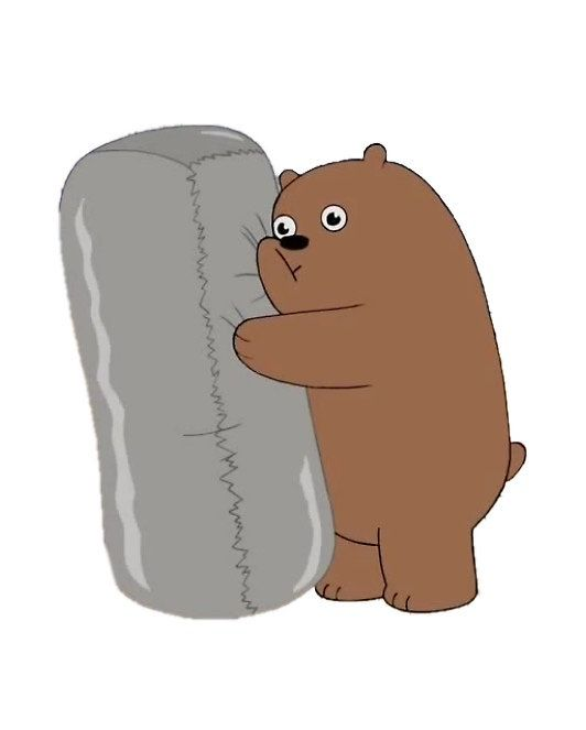 We Bare Bears Grizz And Burrito By Bigbatblue Png Tumblr Png Imagenes Png