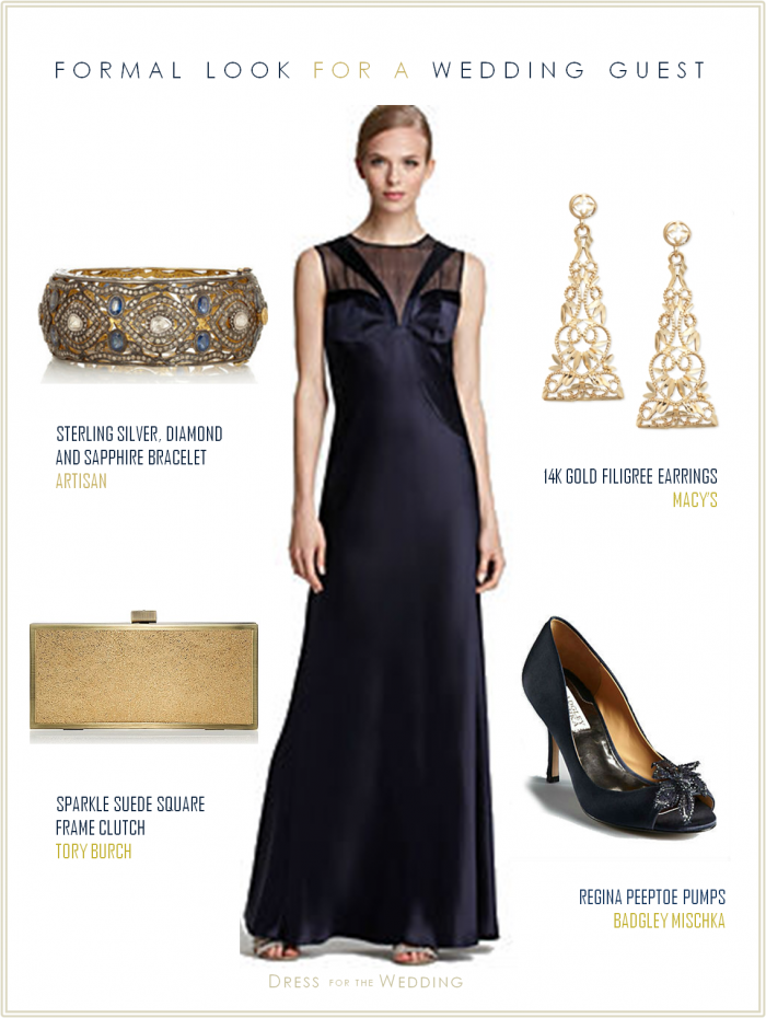 Midnight Blue Dress For Black Tie Wedding