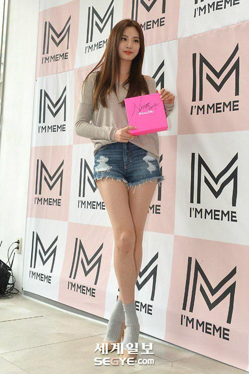 Long Legs 6 Stunning Pics Of Nana At I M Meme Event Long Legged Girls Nana Afterschool Long Legs