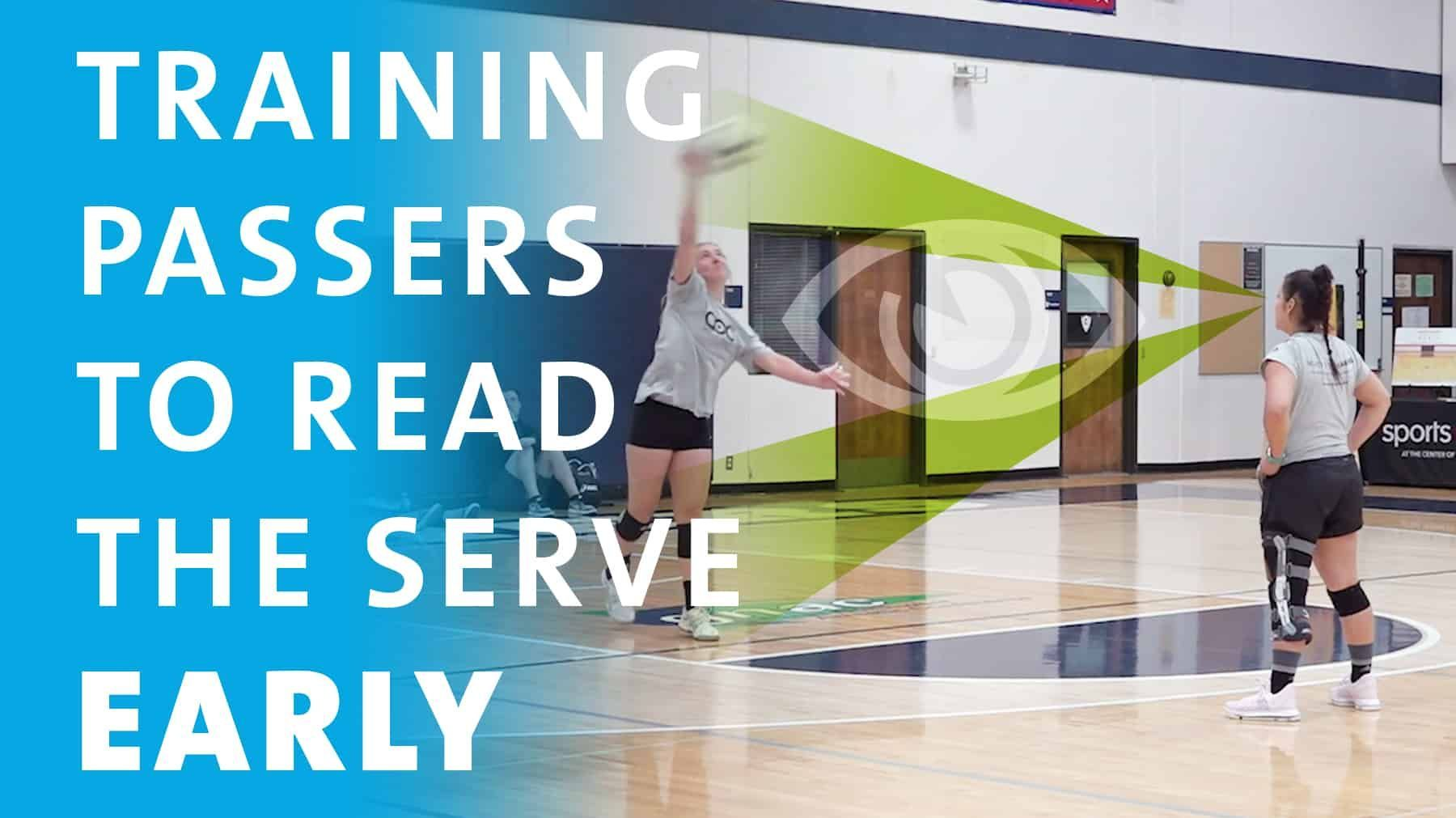 Training Passers To Read The Serve Early Coaching Volleyball Volleyball Drills Volleyball Passing Drills