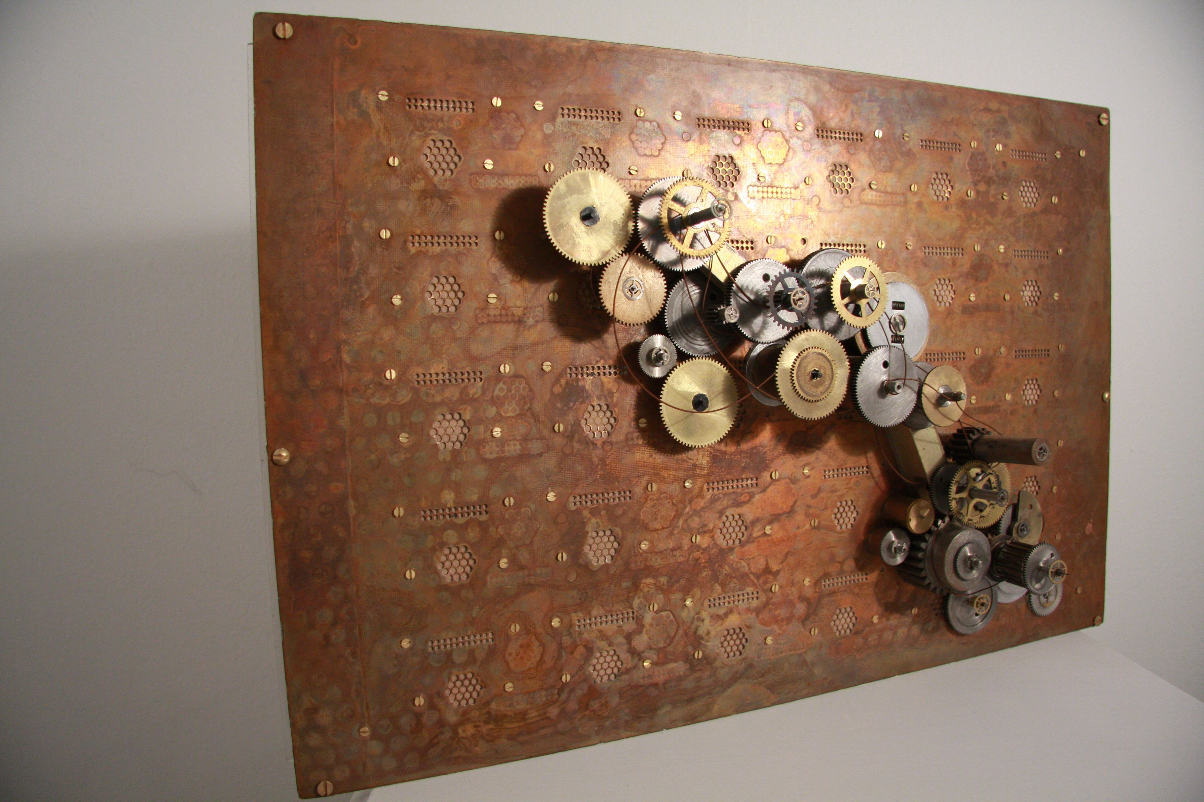Circuit Board Clock Computer Steampunk Techi Recycled Copper Auto Old Boards Stock Images Image 13040664 Still Action Wall Art Pressed With A