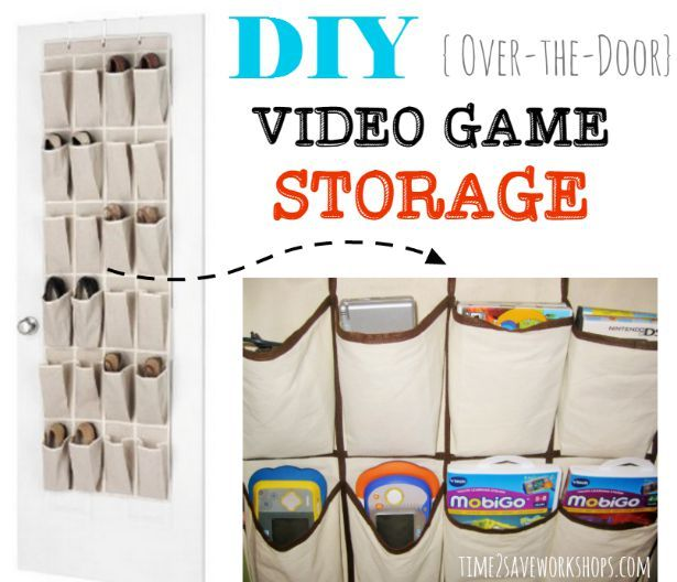Organize video games with hanging shoe organizers video game video game storage diy craft storage crafts diy crafts do it yourself diy projects organization organization ideas organization and storage solutioingenieria Image collections
