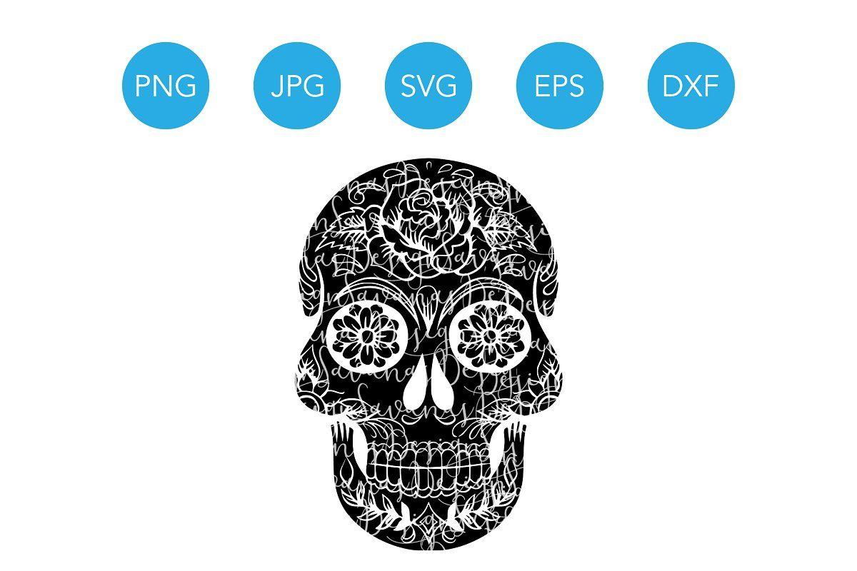 sugar skull affiliate  halloween  svg  files  sugar