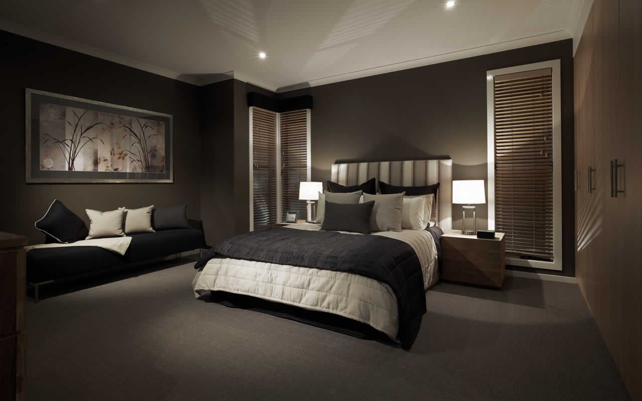 Master Bedroom Feature Wall Ideas black dark feature wall bedroom sexy elegant sleek | bedroom