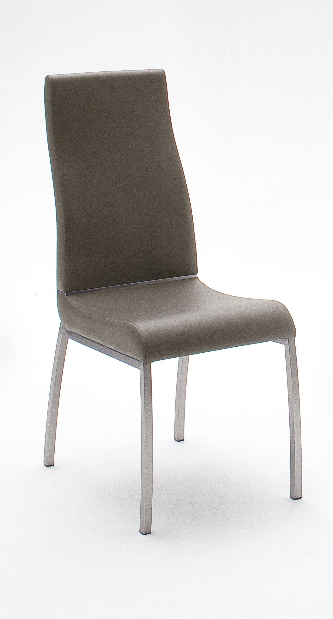 2er Set Stuhl Kunstleder Cappuccino Woody 41 Edelstahl neutral Jetzt bestellen unter s