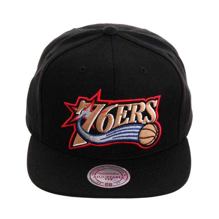 Mitchell Ness Philadelphia 76ers 1997 Snapback Black 30 00 Philadelphia 76ers Snapback Black