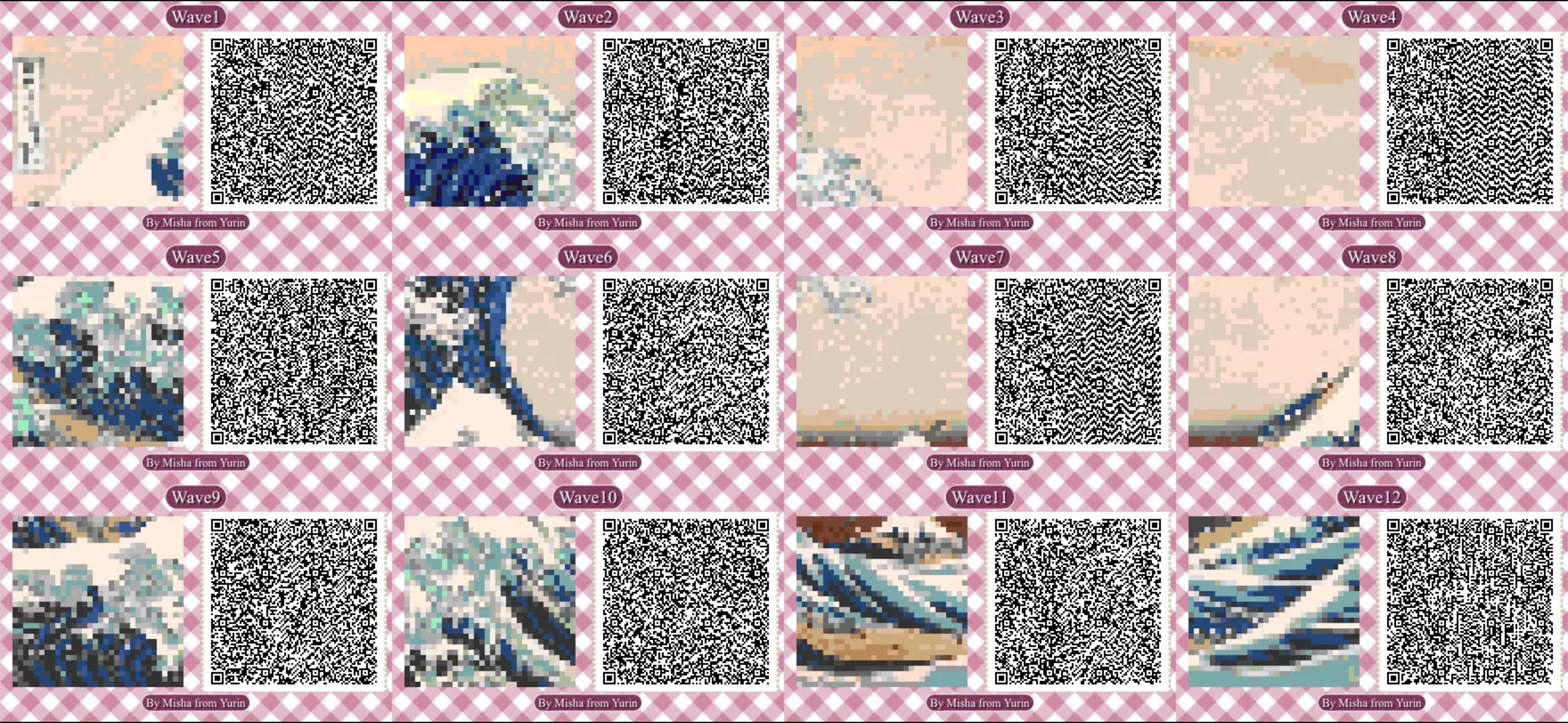 Adnh Qr Code The Great Wave Qr Codes Animal Crossing Animal Crossing Game Qr Codes Animals