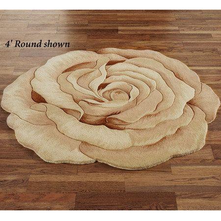 Rosetta Round Flower Shaped Rugs Flower Rug Wildflower Decor Rugs