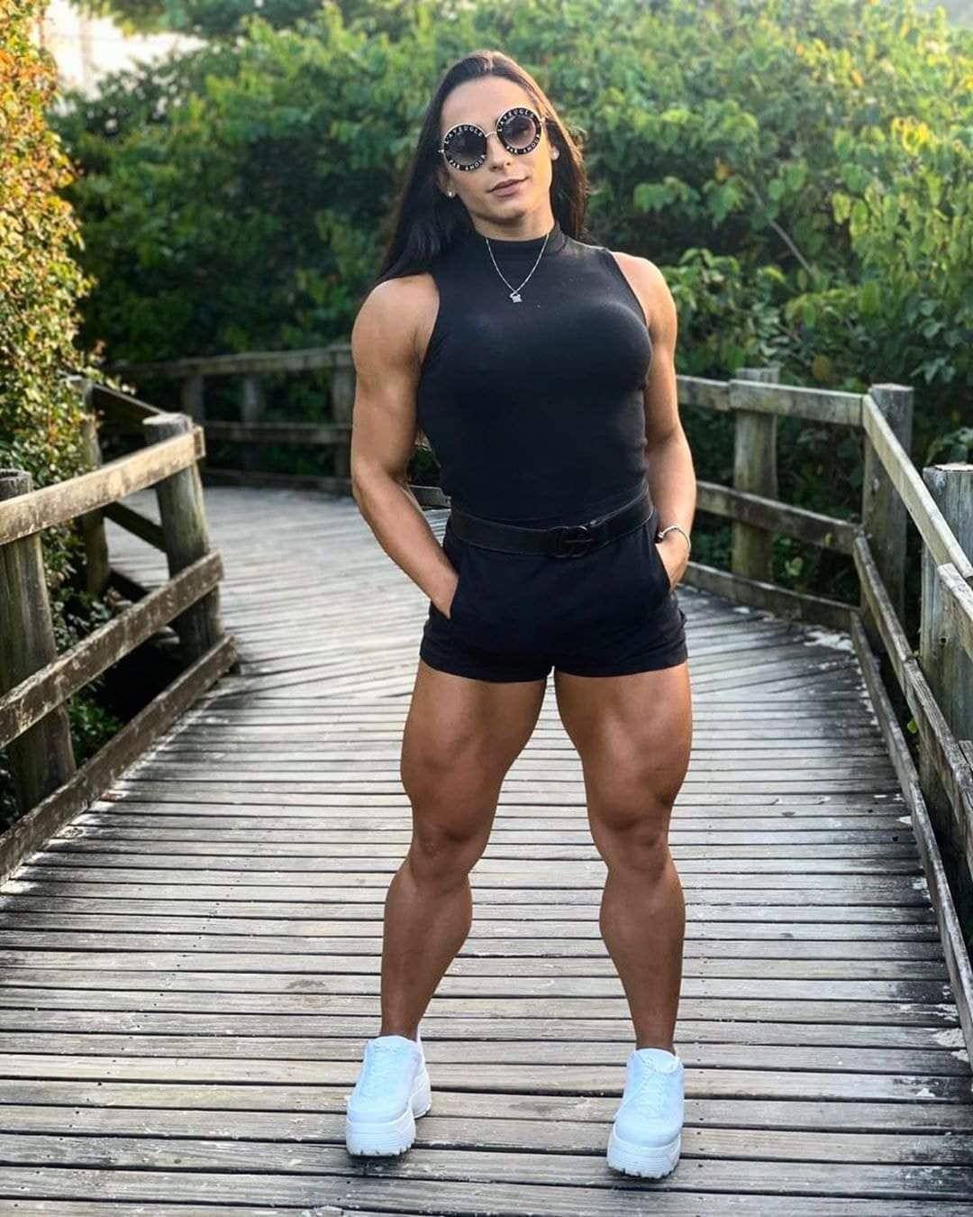 Her Calves Muscle Legs: Various Women with large muscular