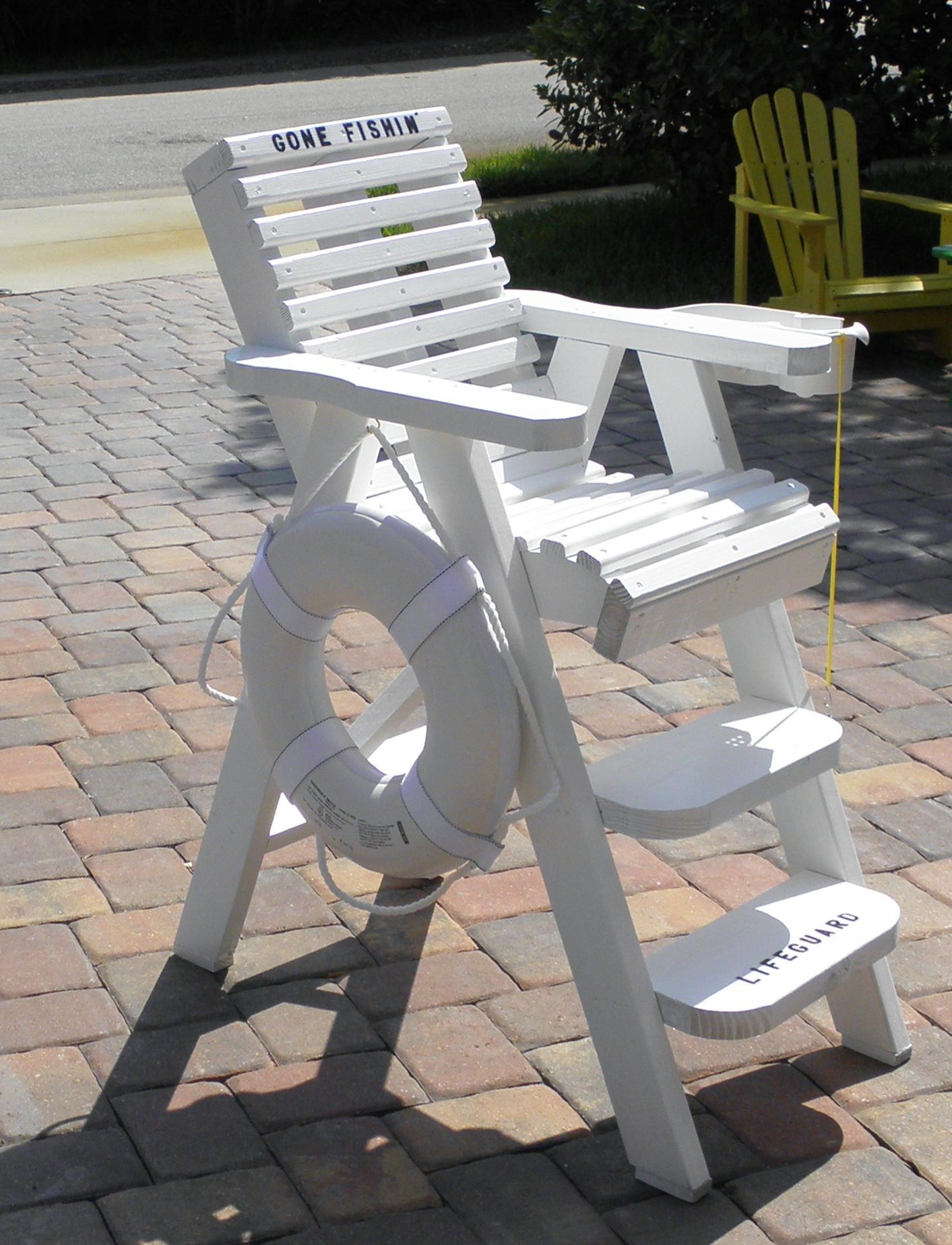 How To Build A Lifeguard Chair Baseball Glove Canada Decorative Chairs By Beachwood Designs Outside Furniture