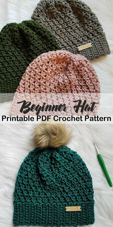 beginner hat crochet patterns – beanie crochet patterns – winter hat crochet pat…
