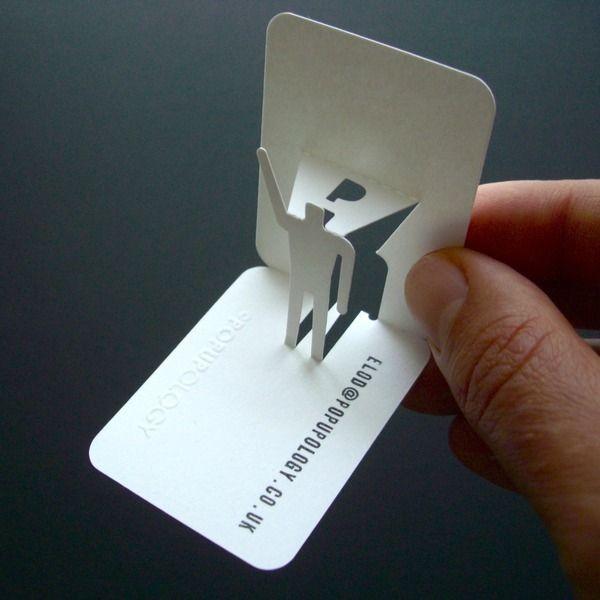 Popup Business Card By Elod Beregszaszi 3d Business Card Pop Up Book Paper Pop