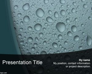 Liquid Powerpoint Template Is A Free Water Drops Ppt