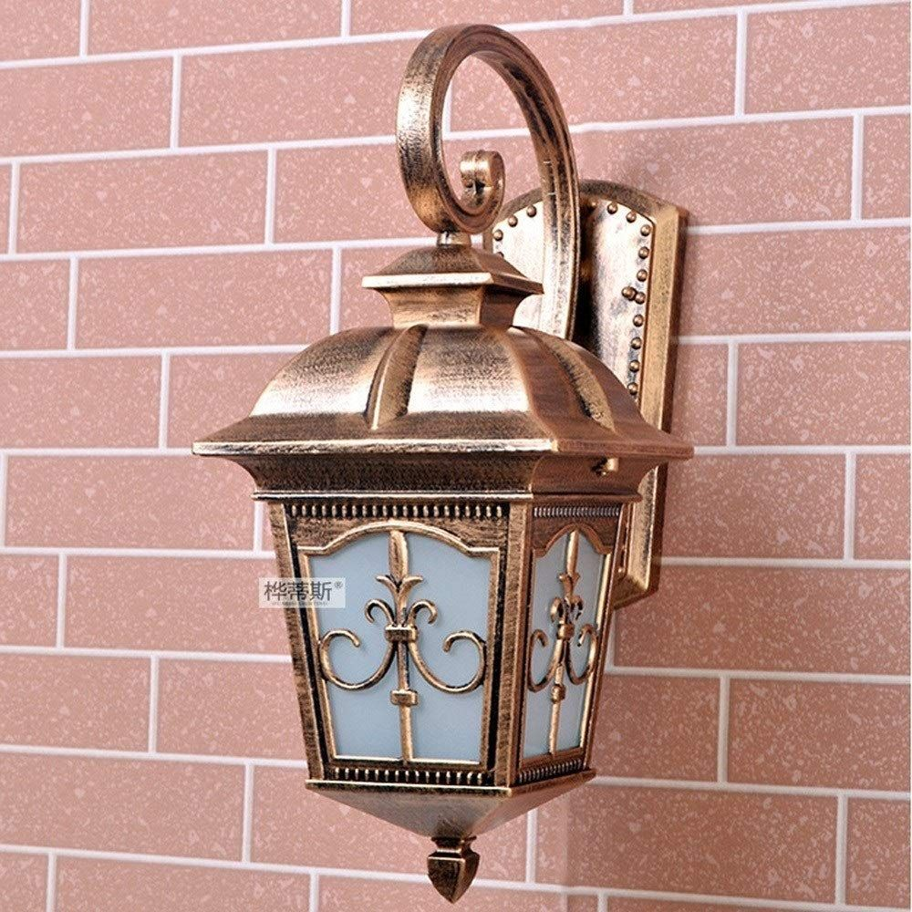 Bgxc 1 Light Outdoor Wall Lamp Glass Lampshade Outdoor Lighting Wall Light For Fence Hall Garden Balcony Retro Aluminu Wall Lights Outdoor Wall Lamps Wall Lamp