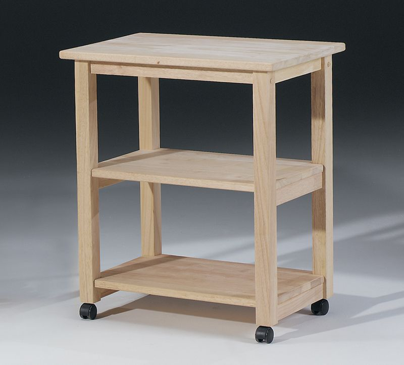 Unfinished Wood Microwave Cart 99 00