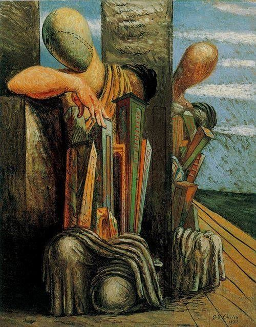 "Charlie Change on Twitter: ""v https://t.co/jobE5dLjei . Giorgio de Chirico  Le Trouble du Philosophe, 1926 . ( Good Evening! @MMM48861381 &c ) https://t.co/Qcs8t8m7G7"""
