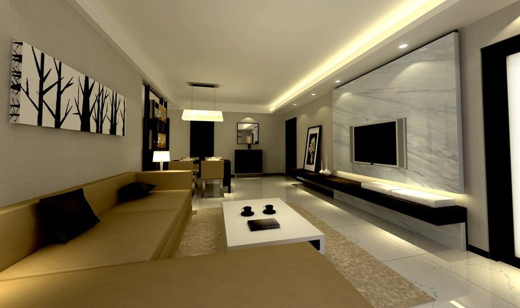 Living Room Lighting Design 3d Interior