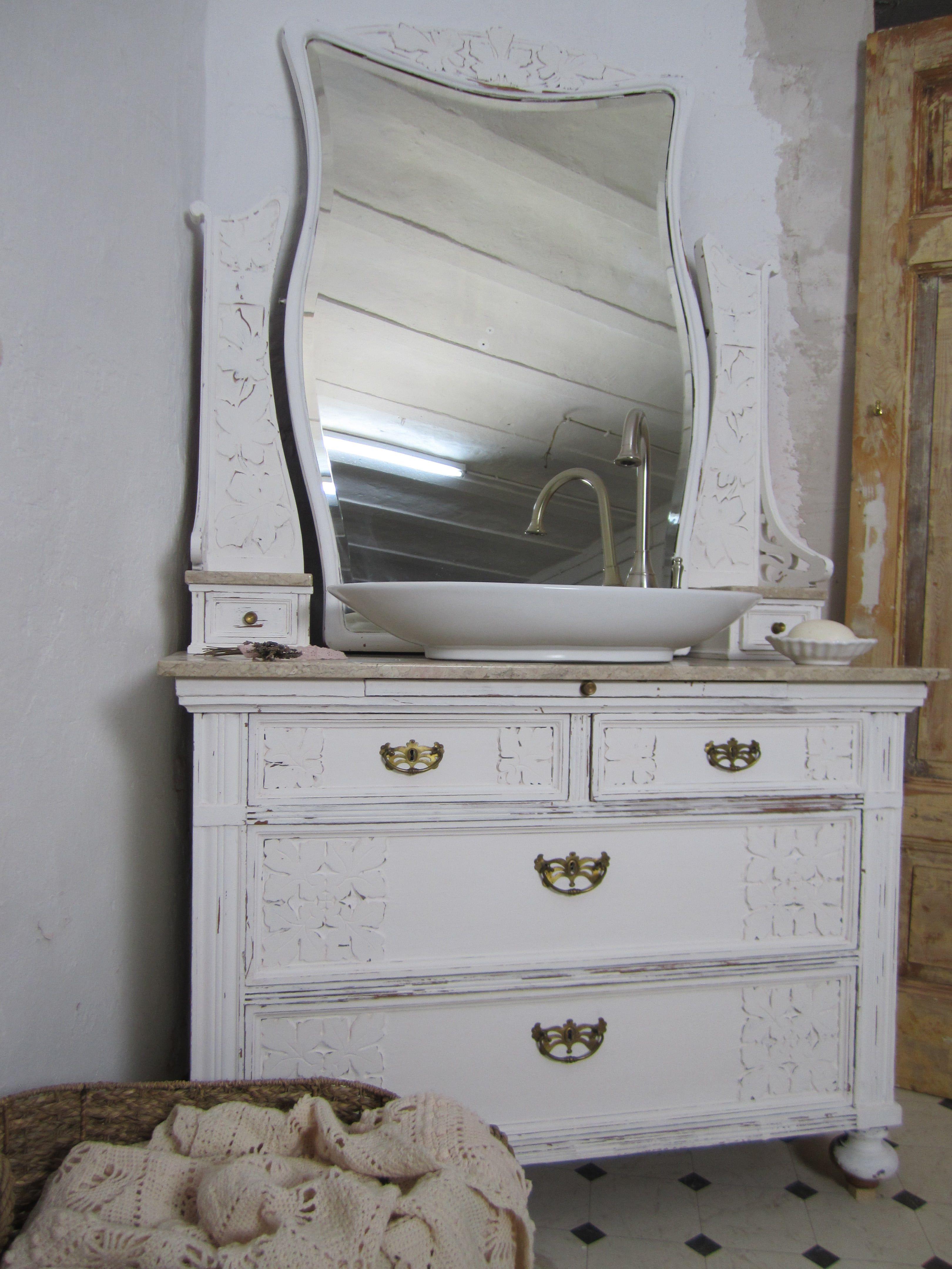 laminuette - badmöbel landhaus spiegelkommode in 2018 | badmöbel