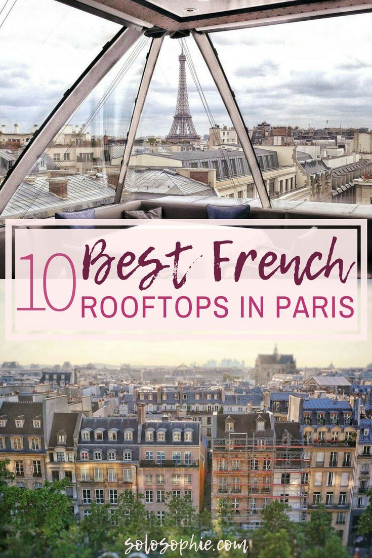 Parisian rooftops, terraces, and bars you'll want to hang out in. A quick guide to the best rooftop bars in Paris, France as where as where to find amazing panoramic views in the French capital!
