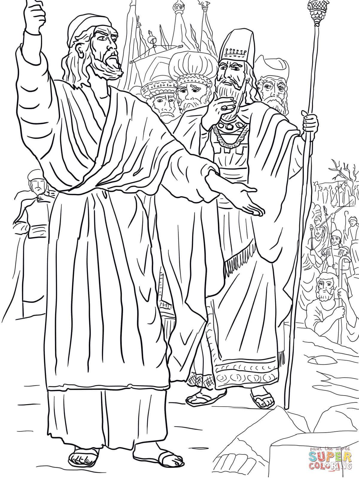 Elijah, Ahab and Prophets of Baal on Mount Carmel | Super Coloring ...