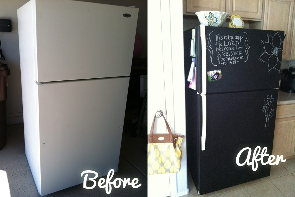 Awesome Kitchen Remodel Diy Make Your Own Chalkboard Refrigerator I Wonder If I Can Do This With My Sil Diy Remodel Diy Kitchen Remodel Diy Chalkboard Paint