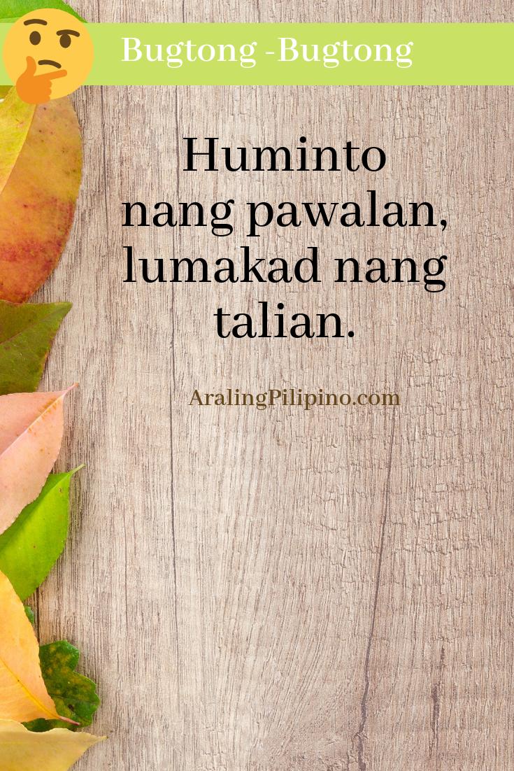 Bugtong Bugtong Filipino Riddle Filipino, Tagalog, Pinoy